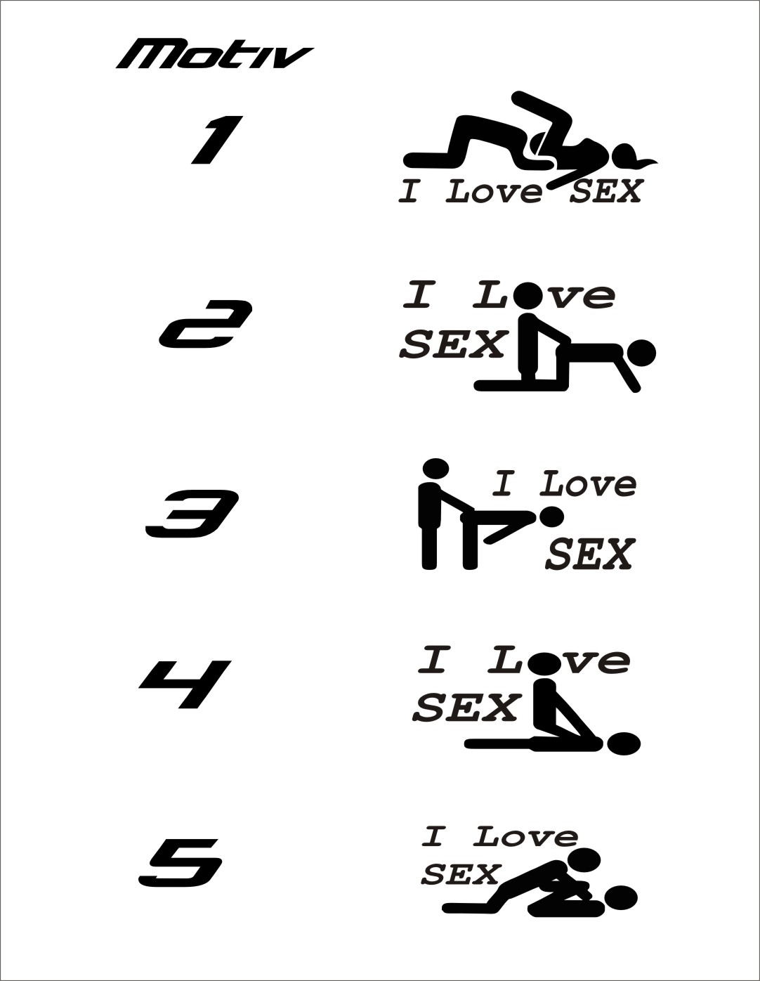 I Love Sex Aufkleber Sticker, Sex Sticker / Sushi
